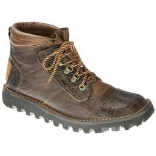 Courteney Boots Safari Brown Buffalo & Crocodile Trim