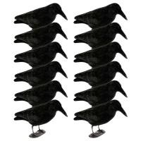 Crow decoy full body flocked 12 pcs