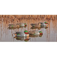 Avian-X Top Flight Green Winged Teal Duck Decoys - 6 Pack