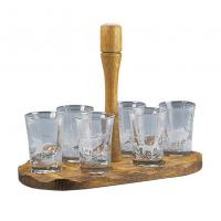 Комплект от 6 чаши за ракия с поднос Fritzmann