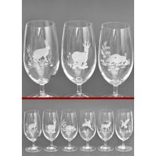 Стъклени чаши със столче - 6 броя