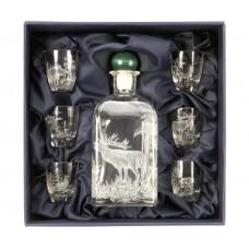 Комплект от 6 чаши за алкохол с бутилка