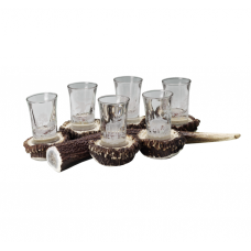 Fritzmann Schnapps serving set with staghorn table