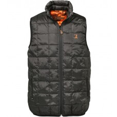 Percussion Gilet warm reversible black/blaze camo